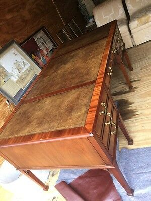 Large Executive Baker Leather Top Desk