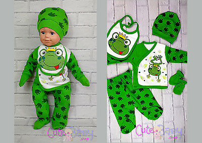 Panda Baby shower Sleepsuit Set GIFT baby clothes outfit UK STOCK
