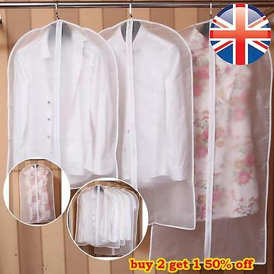 *UK Seller* 4 SIZES Suit Covers Clothes Garment Shirts Carrier Storage Bag