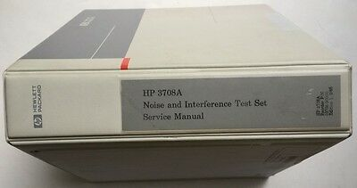 HP 3708A Noise & Interference Test Set Service Manual P/N 03708-90000