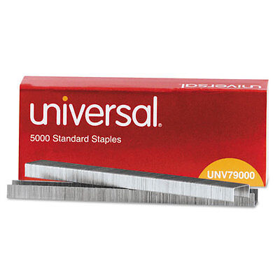 UNIVERSAL Standard Chisel Point 210 Strip Count Staples 5000/Box