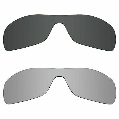 3bf1146d18 RAWD 2 Pairs Polarized Replacement Lenses for-Oakley Antix Black + Silver  Mirror