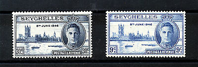 "SEYCHELLES: 1946 Mi: SC-146-47 ""Anniversary of the Victory"" MH SET"