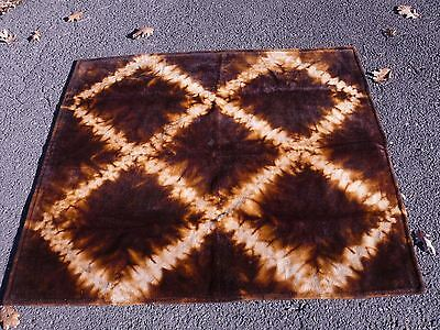 Vintage Chase Heavy Winter Horse Hair Blanket Geometric Pattern 59 X 53