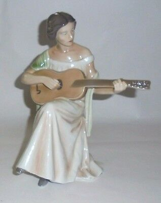 "Royal Copenhagen 416 Lady with Guitar - 9-1/2"" Figurine"