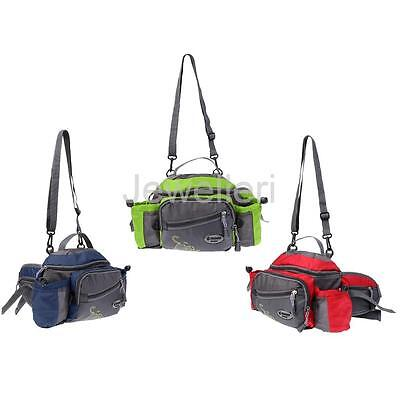 Outdoor Sport Shoulder Bags Waist Bag Fishing Tackle Storage Box Organizer Bags