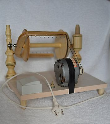 Electric spinning wheel wooden Handmade New
