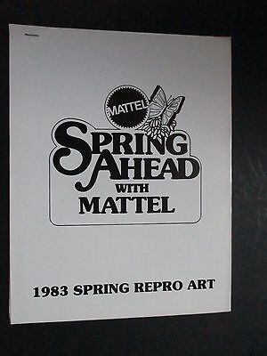 Mattel 1983 Internal Repro Art Toy Catalog Spring Barbie/he Man/hot Wheels Etc