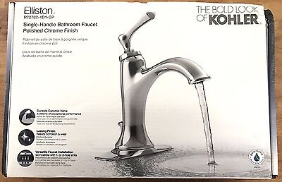 Kohler K R72782 4d Cp Elliston Single Handle Bathroom Faucet