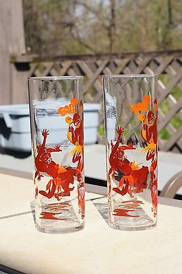 Vintage African American Federal Bar Drink Glasses Dancing Around the Bon Fire