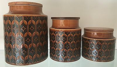 Set of 3 Graduated Blank Hornsea Heirloom Storage Jars 19cms 15cms & 11cms High