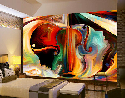 HQ XXL Wall Mural Face Abstract Art Violin Beauty Photo Wallpaper Living Room 97