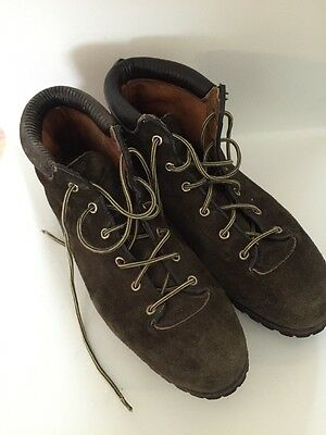Men's Vintage VASQUE Green Leather Suede Italy Vibram Hiking Boots Shoes 10 M