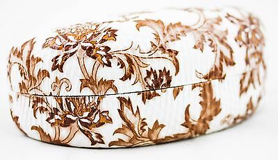 Sunglasses Floral Hard Case Women's Foil Clam Shell Reading Glasses Brown New