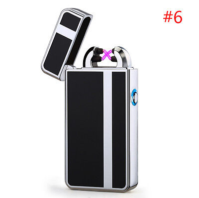 Rechargeable USB Electric Dual Arc Plasma Pulse Lighter Windproof Flameless #6