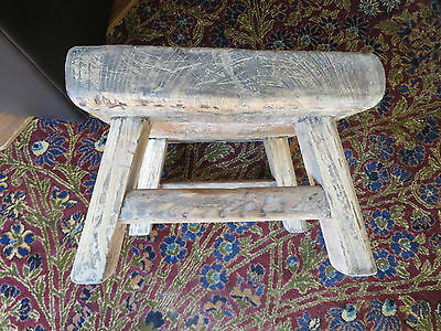 antique, stripped, zitan stool, ming dynasty, genuine/authentic,