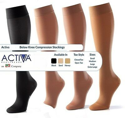 Activa Below Knee Support Stockings Varicose Vein Circulation Compression Sock