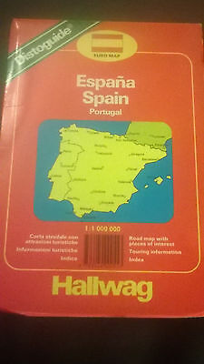 Hallwag map of Spain and Portugal