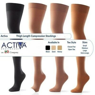 Activa Thigh Length Stockings Varicose Vein Circulation Compression DVT Sock NHS
