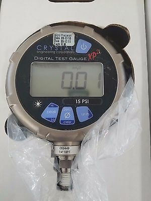Crystal 15Psixp21 Digital Pressure Gage Vac To 15 Psi *sold As Is*