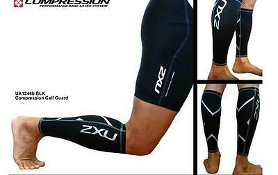 2XU Non-Stirrup Compression Training Cycling Runing Leg Sleeves Calf Guard-True