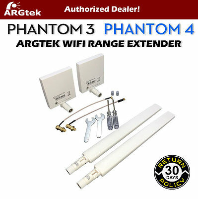 ARGtek DJI Phantom 4 & 3 Pro/Advanced WiFi Signal Range Extender Antennas - New!