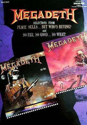 Megadeth Countdown to Extinction Sheet Music Guitar Tablature NEW 000694952