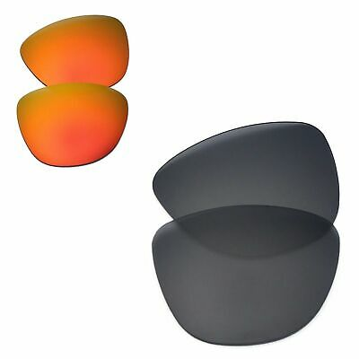 5112c9ec2a RAWD 2 Pairs Polarized Replacement Lens for-Oakley Frogskins Black + Red  Mirror