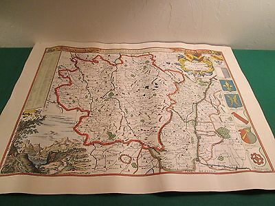 Vintage Alsace-Lorraine, France Germany Region Map