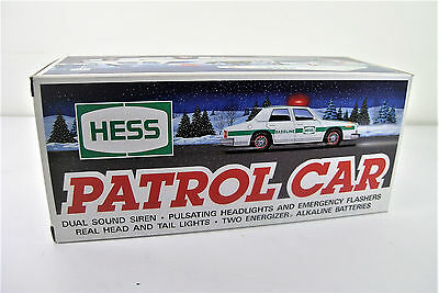 Hess Truck (1993) Patrol Car With Lights And Sounds New In Box