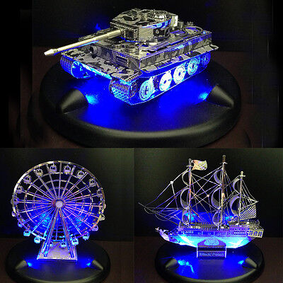 3D Puzzle Dedicated LED Plate Blue Light up Stage Educational Toys LD