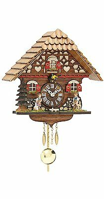 Kuckulino Black Forest Clock with quartz movement and cuckoo chime, incl. #2QP