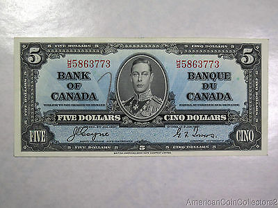 1937 Bank Of Canada 5$ Dollars Bank Note Coyne / Towers | Great Condition| 6565