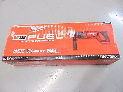 """Milwaukee M18 Fuel Cordless 1"""" D-Handle Sds Plus Rotary Hammer Bare Tool 2713-"""