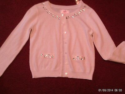 justice - girls size  14 ivory/cream rhinestone cardigan sweater nwt