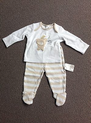 Brand New Mothercare Unisex Long Sleeve Top & Pant Set Size 0-3 Months