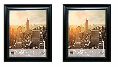 Kiera Grace Reagan Picture Frame , 8 by 10 Inch, Black, Set of 2