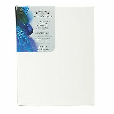 Winsor Newton 8-Inch by 10-Inch Artists Quality Stretched Canvas