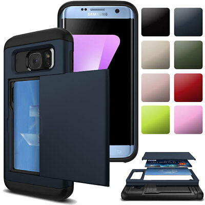 For Samsung Galaxy S6 / S6 edge / Plus Wallet Card Slots Case Slim Slide Cover