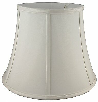 """American Pride ROUND BELL LAMPSHADE Soft Tailored, OFF-WHITE or WHITE - 7.5X12"""""""