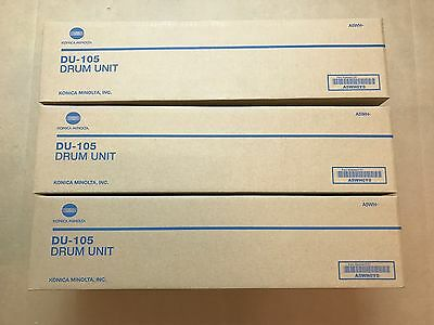 Lot of 3 GENUINE Konica Minolta DU-105 Drum Unit for Bizhub C1060 C1070 A5WH0Y0