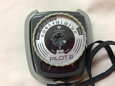 GOSSEN Pilot 2 Exposure Photographic Light Meter with Case Made in West Germany