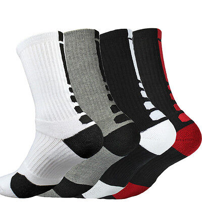 5 pairs Men's Medium Socks Crew Climbing Casual Basketball Ankle Socks One Size