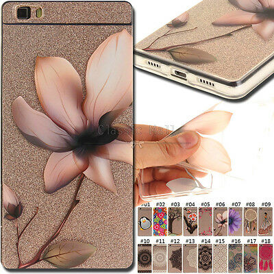 For Huawei P8 lite Back TPU Rubber Skin Protective Shell Cover Soft Clear Case
