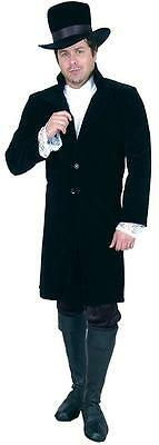 Gentleman Jim Top Coat Vampire Ripper Fancy Dress Up Halloween Adult Costume