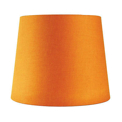 "Cotton Accessories - Table Lamp Shade E27 Orange 9-11-9"" Oriel Lighting OL91826"