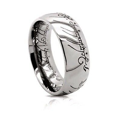 The One Ring: Sterling Silver Replica | Lord of the Rings & The Hobbit | Size 11