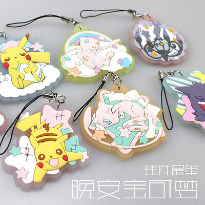 Eevee Pikachu Mew Gengar Chandelure Pokemon Pocket Monster Key chain Acrylic Sa