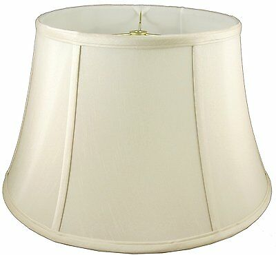 "American Pride ROUND BOUILOTTE LAMPSHADE Soft Tailored Faux Silk,EGGSHELL-7""or9"""