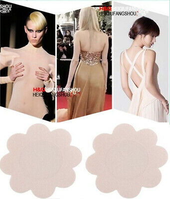 4 pc New Reusable Round Silicone Nipple Cover Self Adhesive Invisible Breast pad